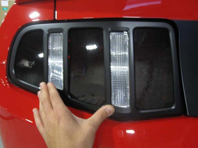 How to install mmd matte black tail light trim on your 2010 2012 once you are certain the that trim is aligned properly over the tail light press down on all areas of the trim to fully seat the adhesive tape aloadofball Image collections