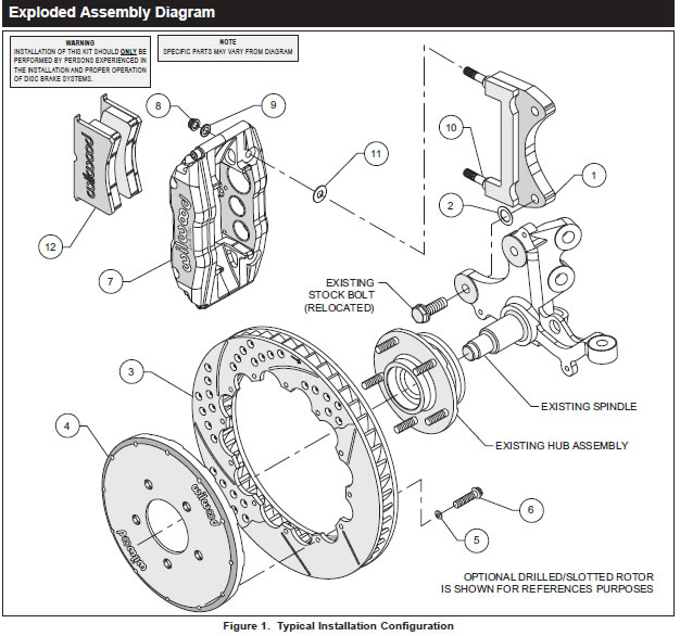 guide 48302 01 how to install wilwood superlite front brake kit on your mustang mustang front suspension diagram at bayanpartner.co