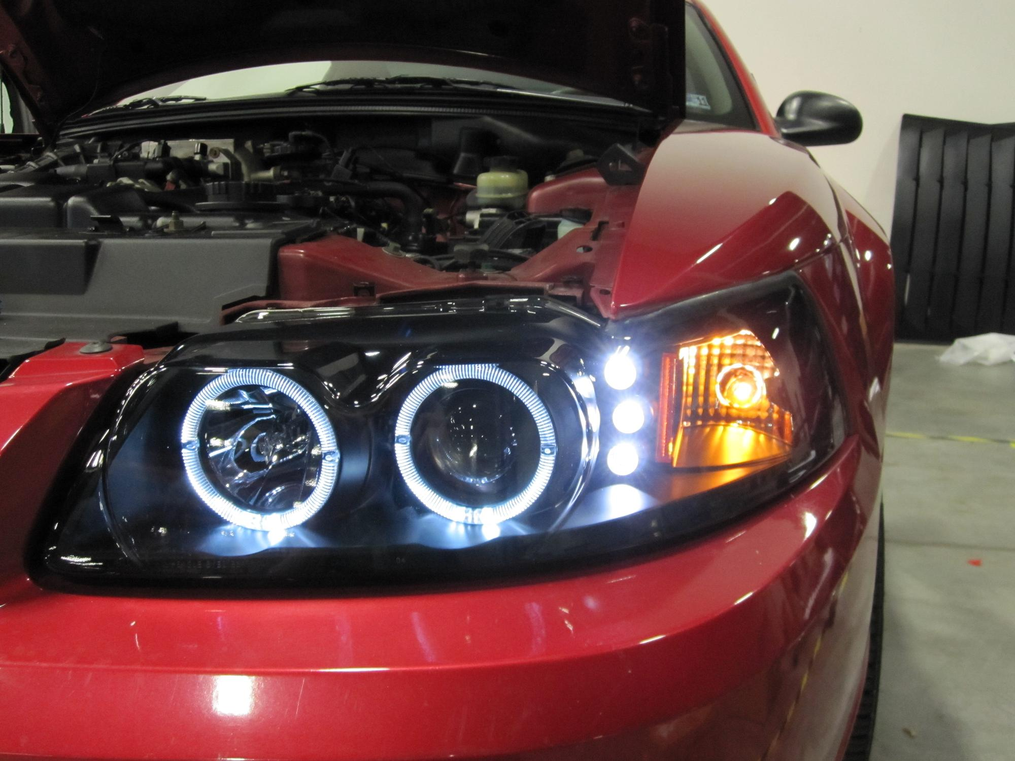 How to install projector headlights for 1999 2004 mustang americanmuscle