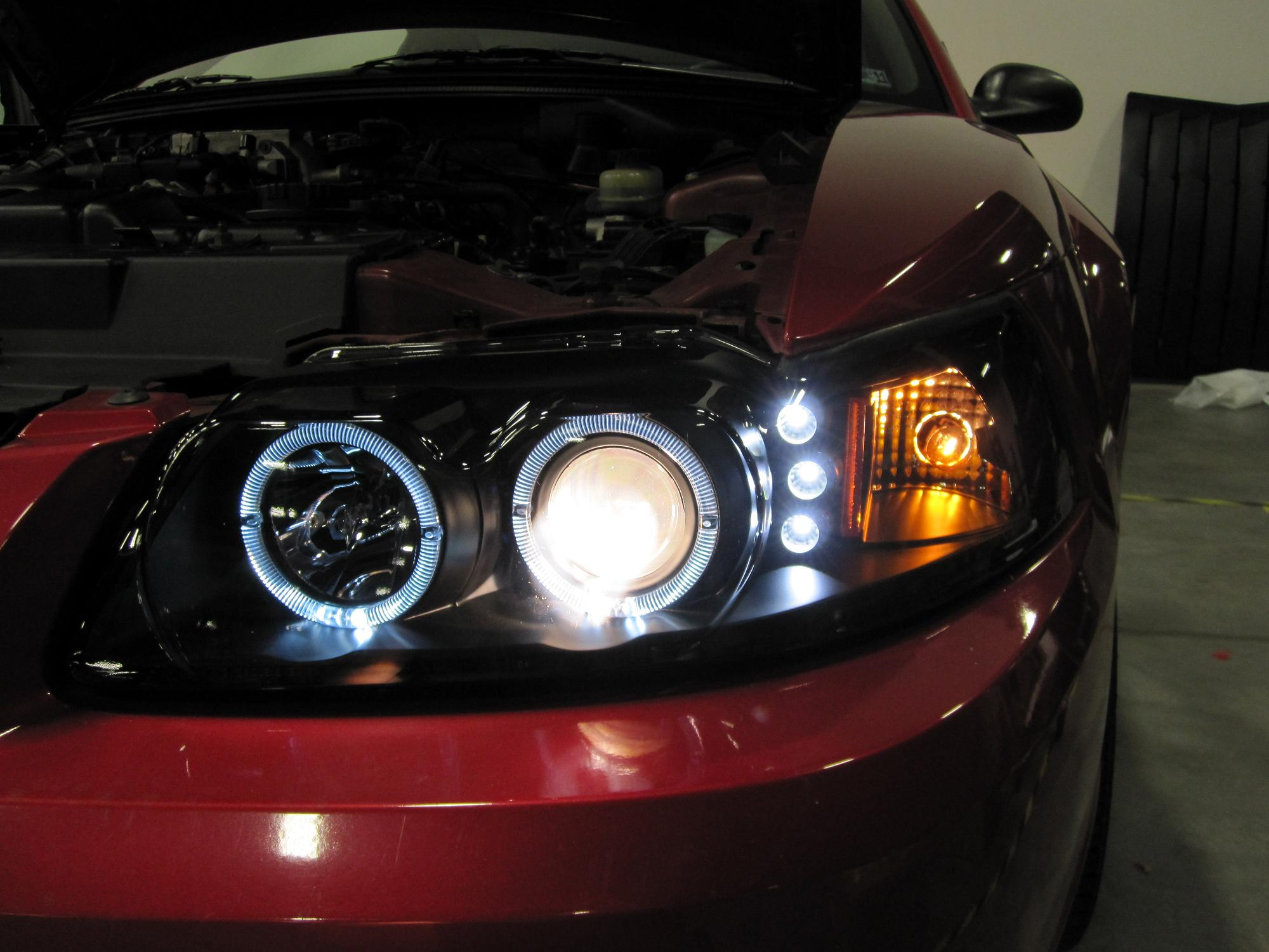 How To Install Projector Headlights For 1999 2004 Mustang Wiring Halo Lights On