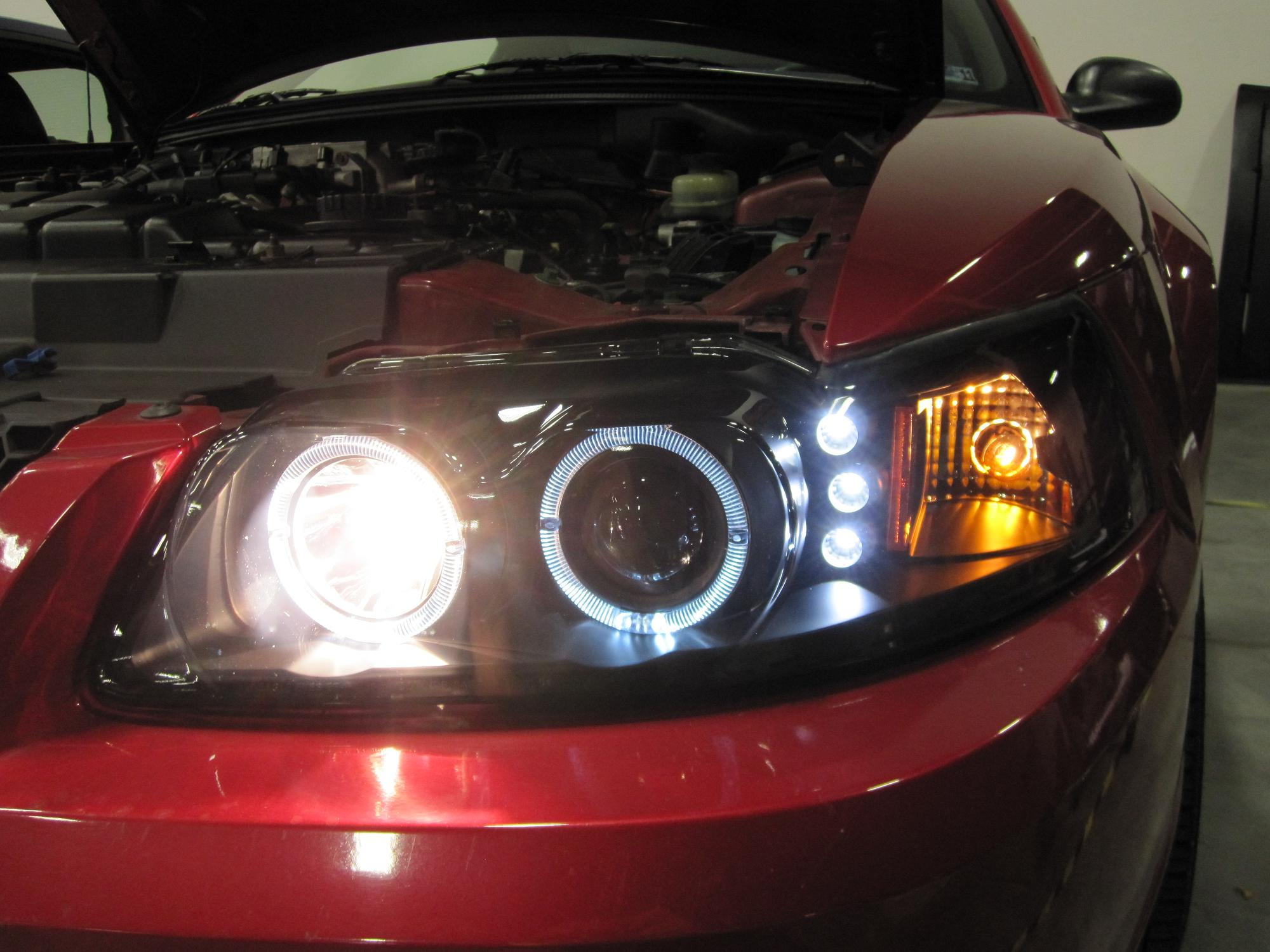How To Install Projector Headlights For 1999 2004 Mustang Led Wiring Diagram High Beams On