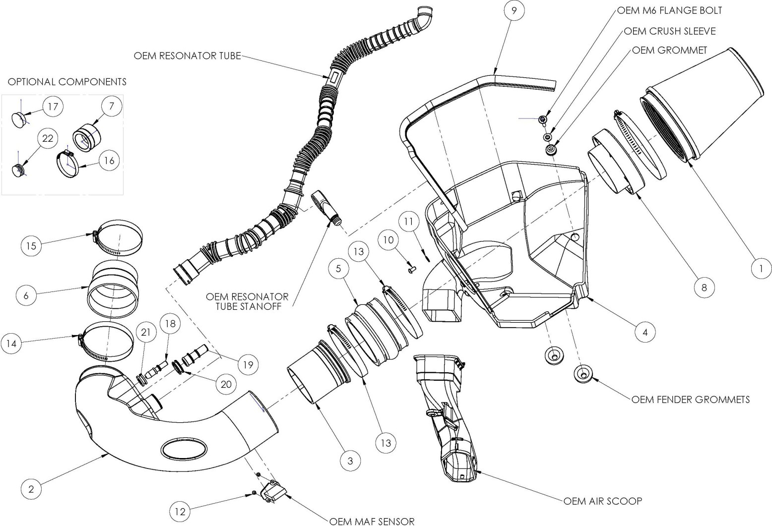 how to install an airaid cold air intake on your 2011 2012 mustang 2001 Mustang Fuel Filter Location installation