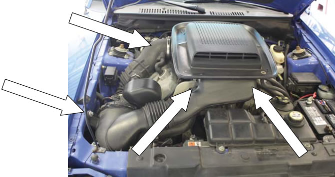 JLT RAM Air Intake Kit with Shaker hook up 2003//2004 Ford Mach 1 Mustang