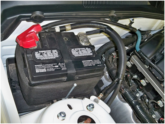 The Battery Box To Get Top O2 Sensor Exhaust Manifold Nut On Penger Side Of Car Is Green As Shown In
