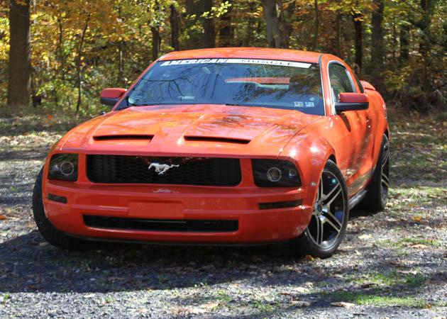 2005 V6 Mustang on Gravel