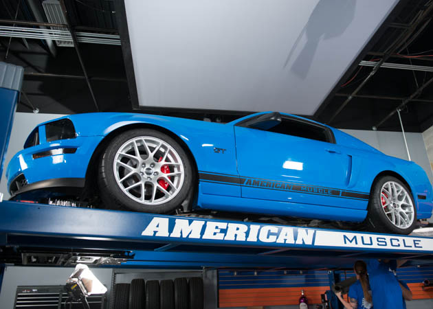 2006 GT Mustang on a Lift
