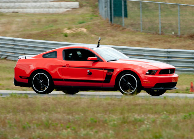 2012 Boss Mustang at the Track