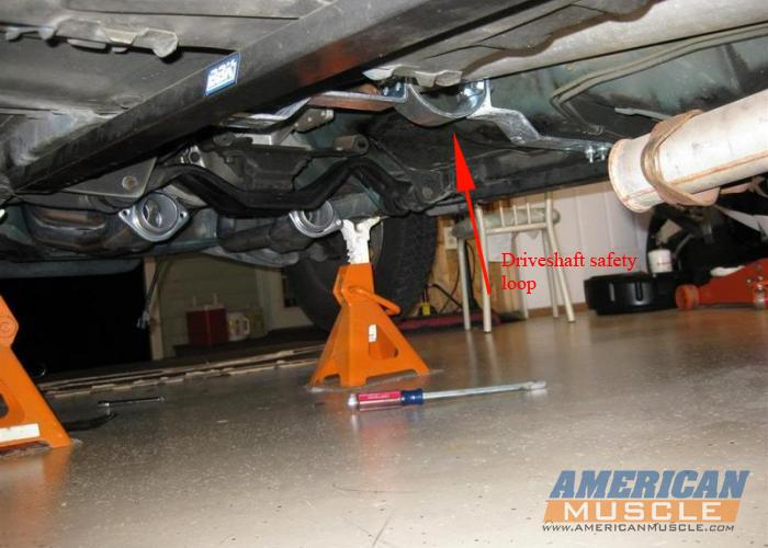 Driveshaft Safety Loop Installed on a Fox Body
