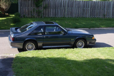 1987 Foxbody Msutang on 4-Lug Rims