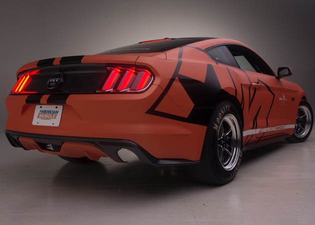Staggered Tire Set Up on a 2015 Mustang Drag Car