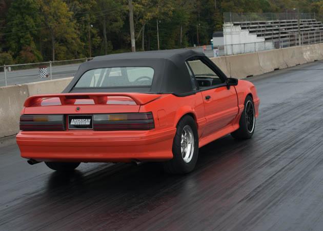 1993 Foxbody Mustang at the Drag Strip