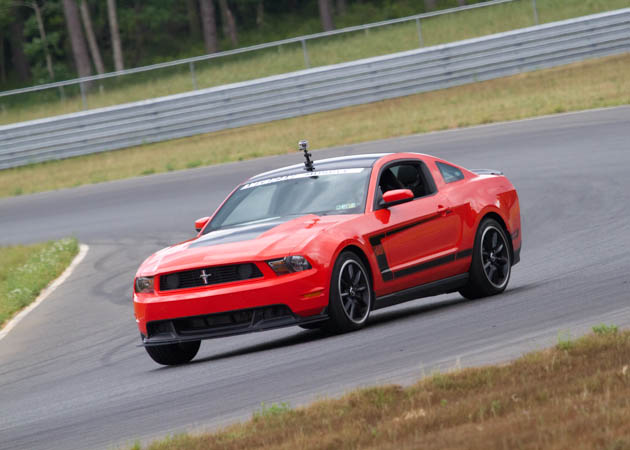 2012 Boss Mustang Going Around a Turn