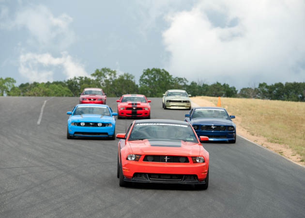 Mustang Group at a Track