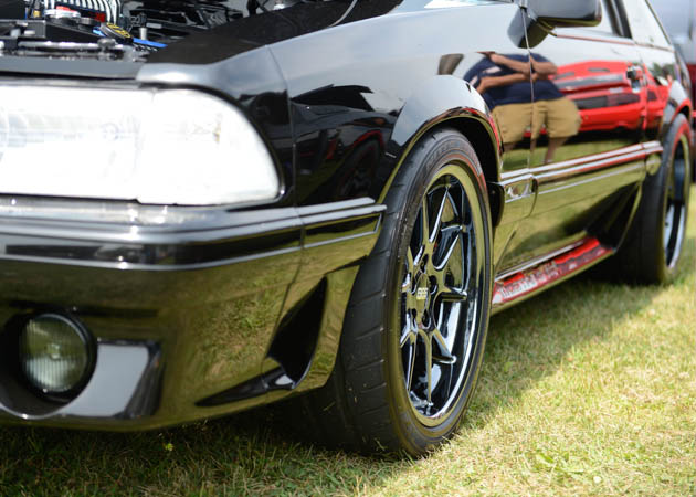 Foxbody with BBS Chrome Rims at a Show