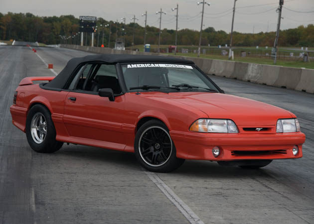 1993 convertible Fox Body Mustang Setup for Drag