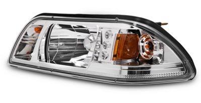 Chrome 1-Piece Fox body Headlight