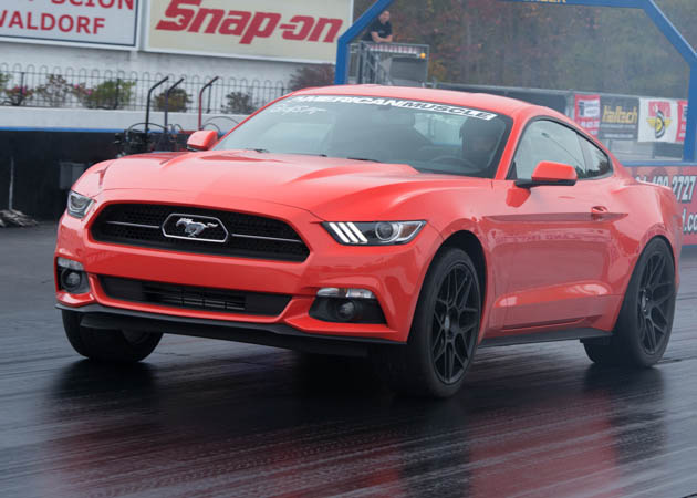 2015 Mustang at the Drag Strip