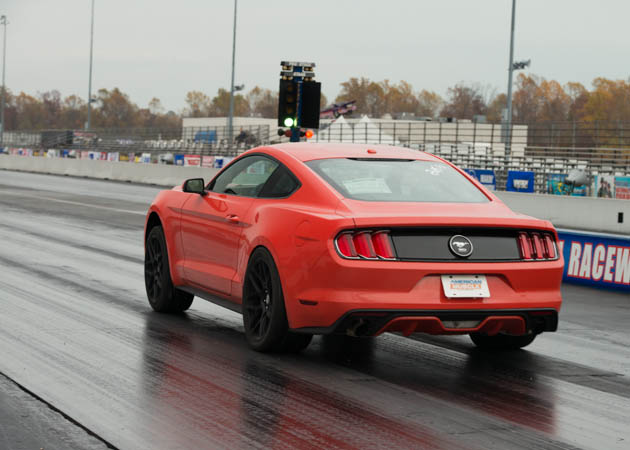 2015 EcoBoost Mustang at the Drag Strip