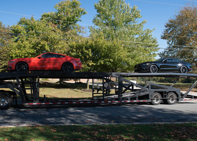 2015 Mustangs on a Trailer