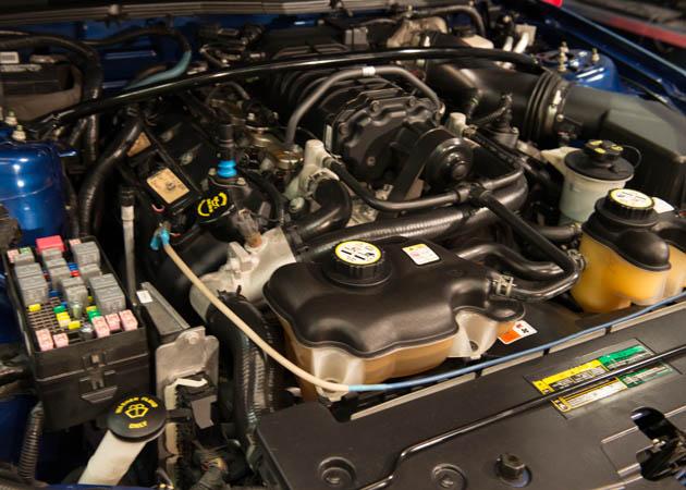 2008 Vista Blue GT350 Mustang