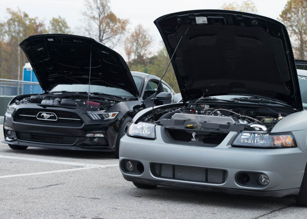 2015 and 2003 Mustangs