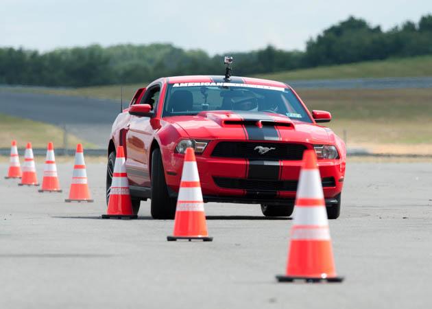 2011 Mustang V6 Slaloming Cones
