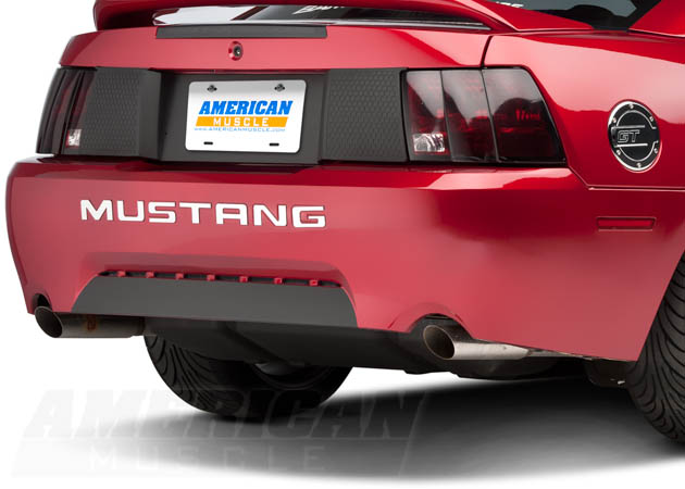 1999-2004 Mustang with Chrome Bumper Letters