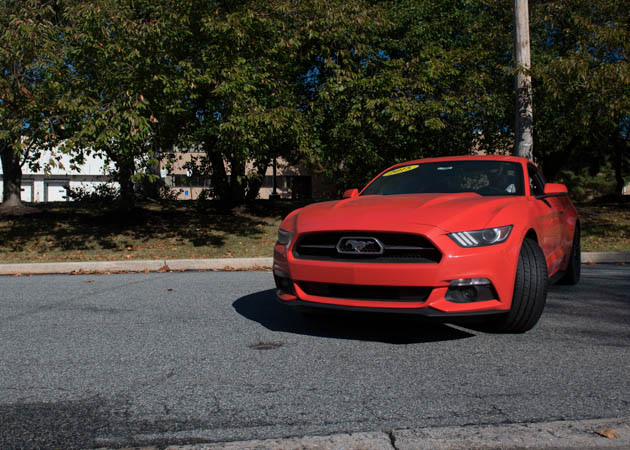 2015 Mustang on a Side Road