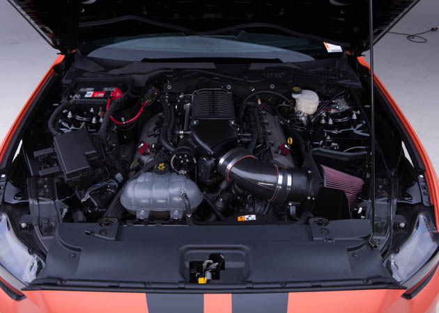 BAMA's 2015 Mustang GT Race Car Engine Bay