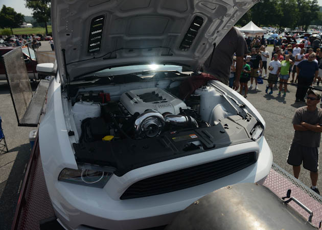 Turboed 2014 Mustang on the Dyno at the AM Show