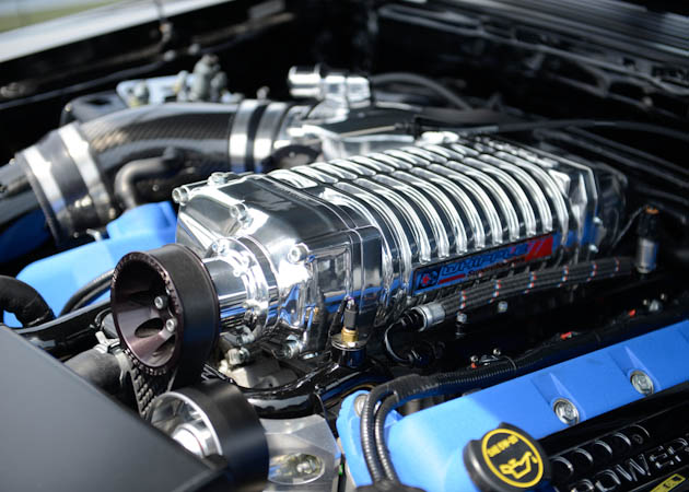 Whipple Supercharger on a Coyote Powered Mustang