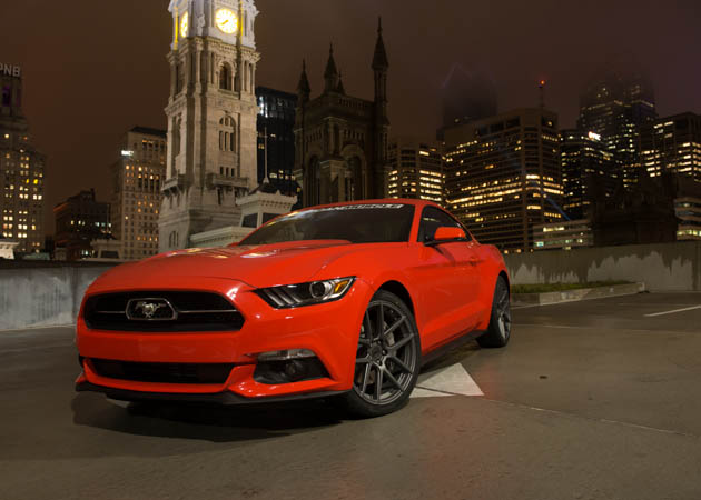 2015 EcoBoost Mustang in Competition Orange