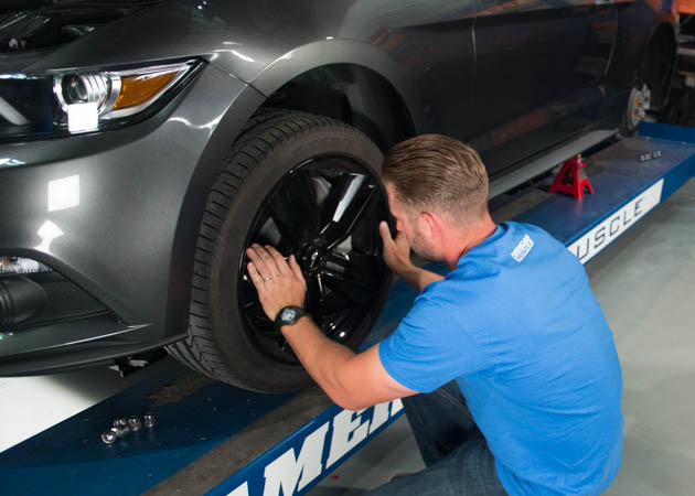 Reinstalling a Wheel on a 2015 EcoBoost Mustang