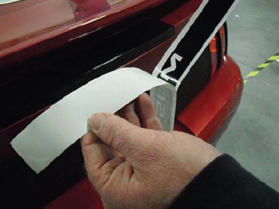 Third Brake Light Covers : Mustang third brake light decal tint